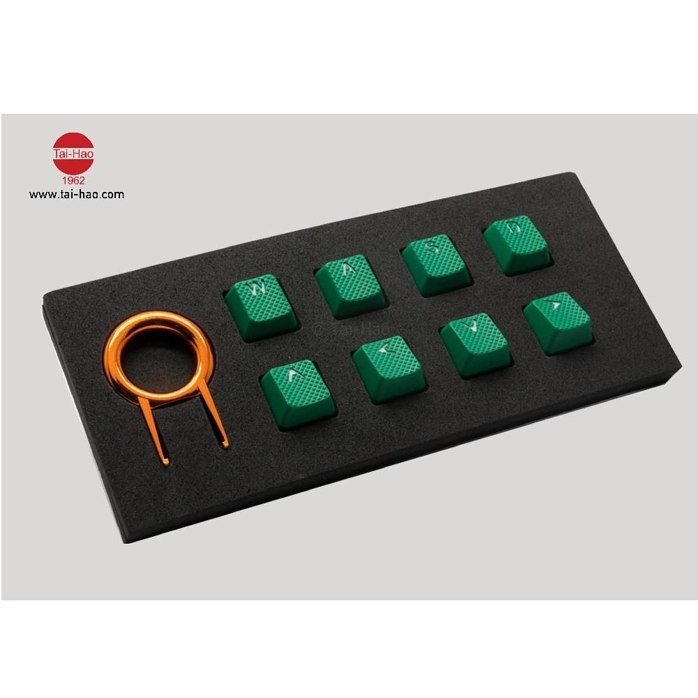 Tai-Hao Rubber Gaming Backlit Keycaps-18 keys/8 keys Green
