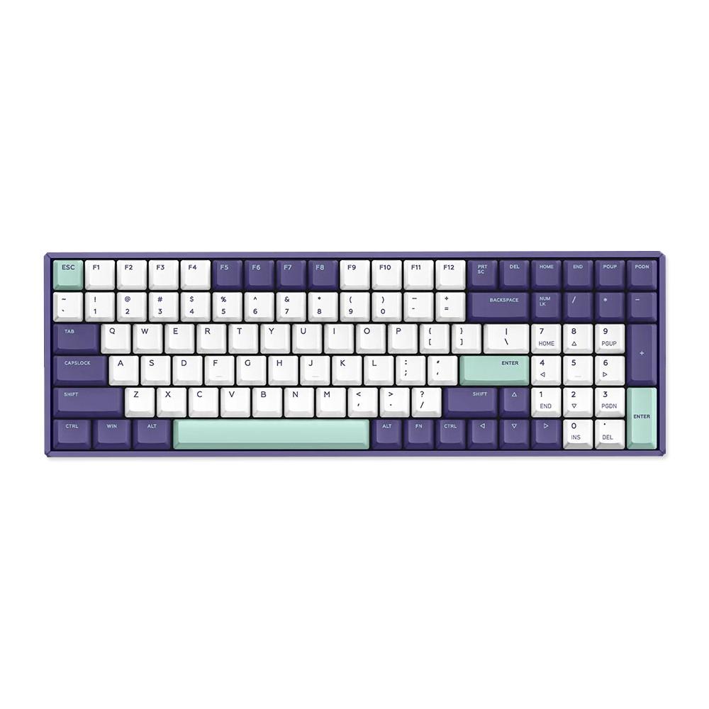 iQunix F96 Mechanical Keyboard Wired RGB Grape Milk