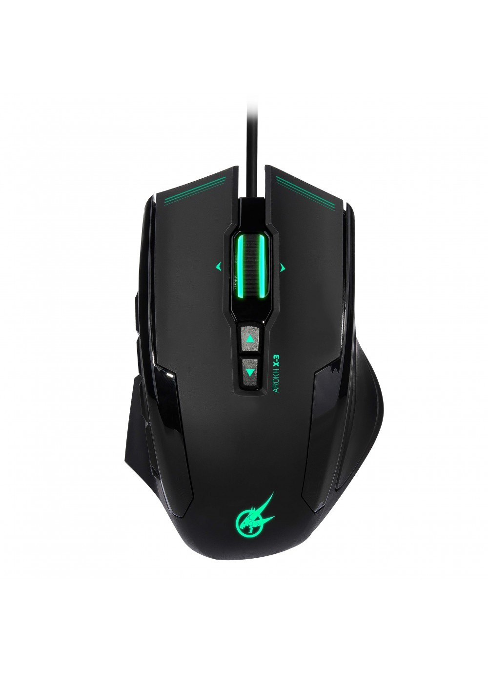 GAMING MOUSE AROKH X-3 - 12 BUTTONS 8200 DPI - GN