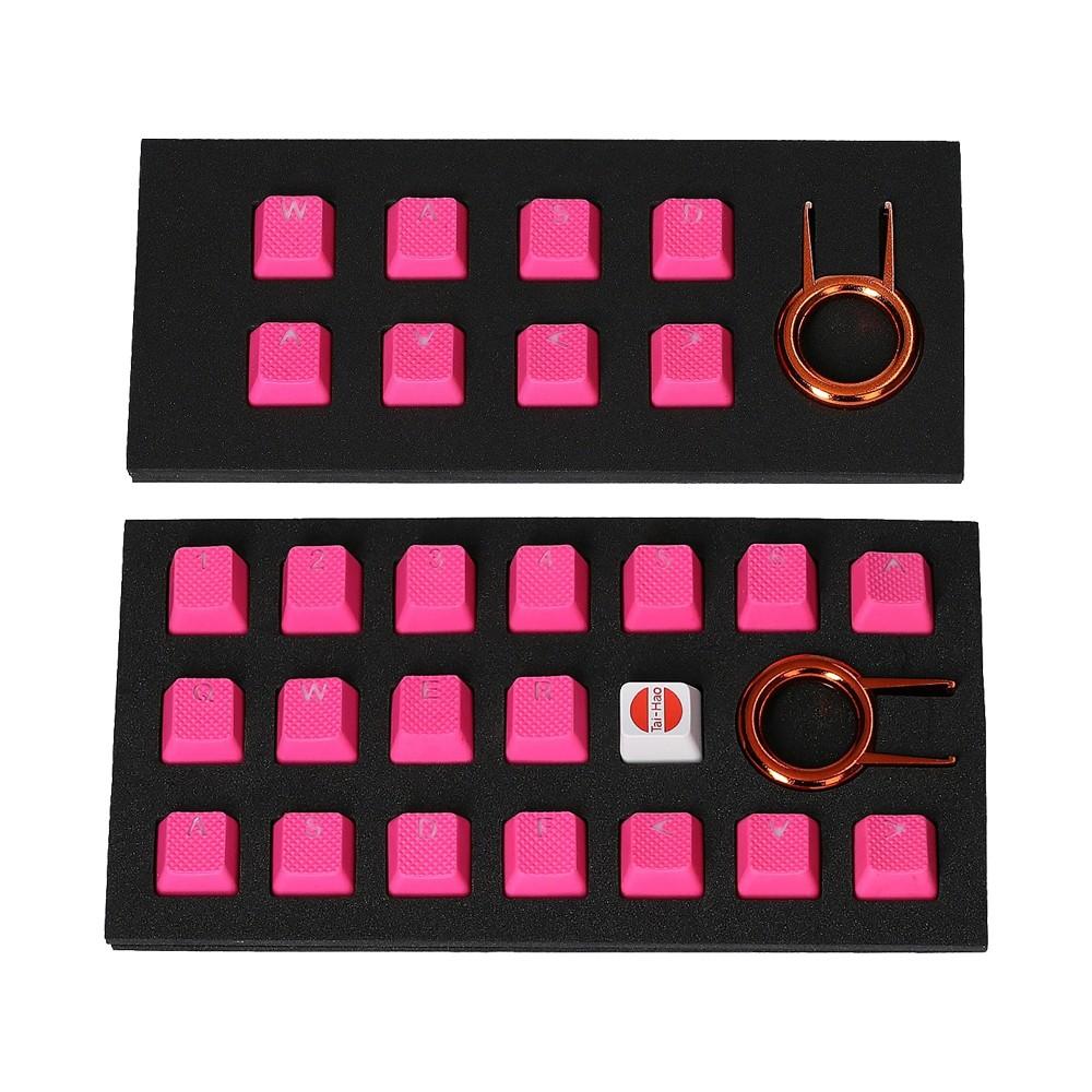 Tai-Hao Rubber Gaming Backlit Keycaps-18 keys/8 keys Neon Pink