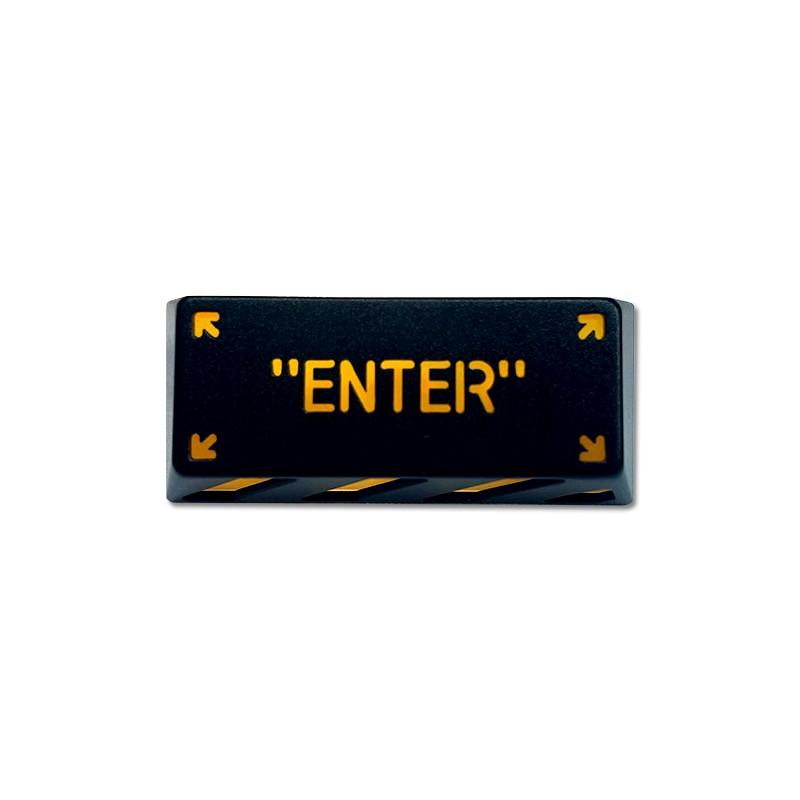 HolyOOPS x ZOMOPLUS CYBER PUNK Aluminum ENTER keycap Black Orange