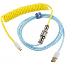 Ducky Premicord Custom Coiled USB Cable Cotton Candy