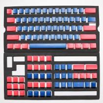 Seamless Legend Pudding Keycap Set Classic Blue Alpha Keycaps