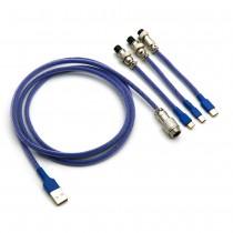 Kraken Keyboards Aviator Cable Dark Blue
