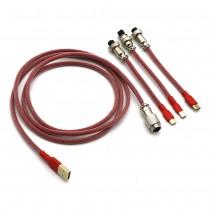 Kraken Keyboards Aviator Cable Red
