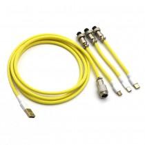 Kraken Keyboards Aviator Cable Yellow