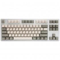 Tai-Hao Grey / White Cubic ABS Double shot keycap Set