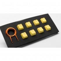 Tai-Hao Rubber Gaming Backlit Keycaps-18 keys/8 keys Yellow