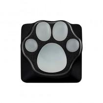 ZOMO PLUS Aluminum & Silicone Kitty Paw Artisan Keycap Black x Transparent