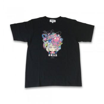 ふもコレ T-shirt 寺田てら Black
