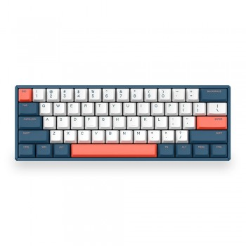 iQunix F60 60% Hot-swappable Mechanical Keyboard Coral Sea