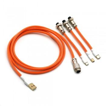Kraken Keyboards Aviator Cable Orange