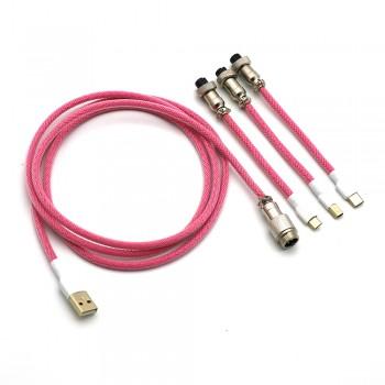 Kraken Keyboards Aviator Cable Pink