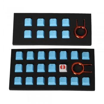 Tai-Hao Rubber Gaming Backlit Keycaps-18 keys/8 keys Neon blue