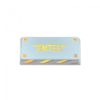 HolyOOPS x ZOMOPLUS CYBER PUNK Aluminum ENTER keycap White Orange