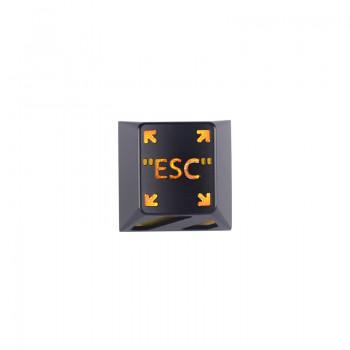 HolyOOPS x ZOMOPLUS CYBER PUNK Aluminum ESC keycap Black Orange